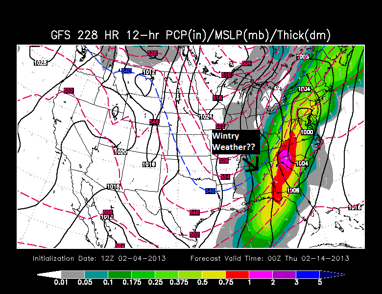 7pm Wed GFS