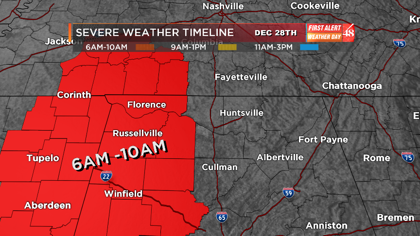 Severe Weather threat Monday  First Alert Weather Day